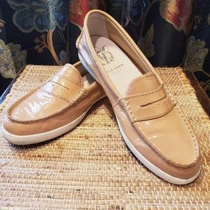 Cole Haan Pinch weekender loafers patent beige 7.5